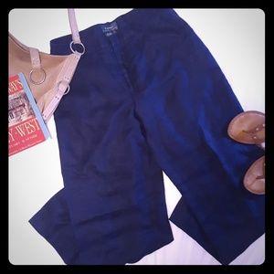 Navy linen pants, Ralph Lauren, Size 10.